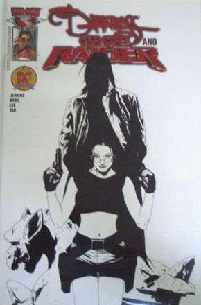 The Darkness Tomb Raider #1 Dynamic Forces Red Foil Eyes Ltd 100 DF COA Top Cow comic book